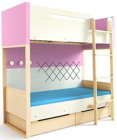 Łóżko dwupiętrowe LOFT PINK http://meblefann.pl/product-pol-311-Lozko-dwupietrowe-LOFT-PINK.html