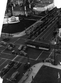 Wilshire and Vermont in April of 1942 (LAPL) Bizarre Los Angeles