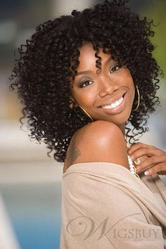 Admirable Medium Curly 100 Human Hair And African Americans On Pinterest Short Hairstyles Gunalazisus