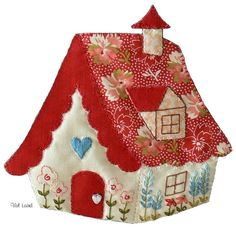 Calista Cottage design by Val Laird. A pattern is available.