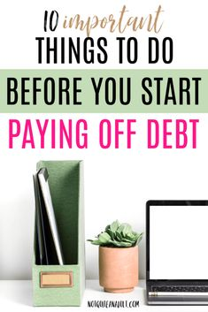 10 Things You Should Do BEFORE Paying Off Debt Starting to pay off debt can be on of the most stressful times in a persons life so its important to get a foundation when. Faire Son Budget, Foundation, Stress, Student Loan Debt, Paying Off Student Loans, Thing 1, Get Out Of Debt, Savings Plan, Managing Your Money