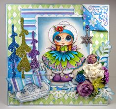 New card using Sherri Baldy My~Besties stamp by Cathy Lee of Cathy's Creative Place. #cards #crafts #copicmarkers #rubberstamping #digi #cardmaking #my-besties #besties #DIY