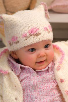 FREE PATTERN  Baby Girl Hat with Rose Band in Regia Softy (discontinued)