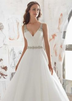 Organza Wedding Dresses Designer Wedding Dresses and Bridal Gowns by Morilee. This Organza Wedding Ballgown Combines a Traditional A- Line Silhouette with Modern Details. Wedding Dress Trends, Bridal Wedding Dresses, Wedding Dress Styles, Dream Wedding Dresses, Designer Wedding Dresses, Mori Lee Wedding Dresses, Wedding Ideas, Wedding Veils, Wedding Planning