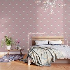 """Wallpaper """"Rabbit with Crown"""" in Rose by Elena Lourie. Worldwide shipping available at Society6.com. #homedecor #homedecor #interior #interiordesign #bedroom #wallpaper  #print #pattern #patterndesign #printdesign #elenalourie #homeideas #home #surfacedesign #society6 #society6shop #printshop #shop #shopping #sale #forsale #homesweethome #cutedesign #rabbit #fundesign #kidsdesign #kidsroom #girlsroom"""