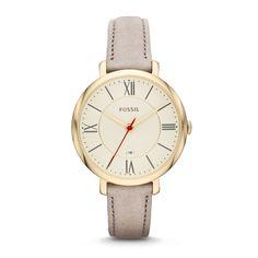 ES3486 -  Jacqueline Three-Hand Leather Watch - Gray