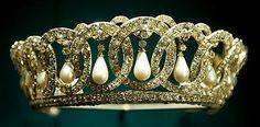 The Grand Duchess Vladimir Tiara, with pearls