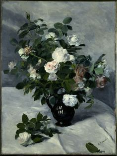 Pierre-Auguste Renoir / Still Life with Roses / c. 1866 / oil on canvas