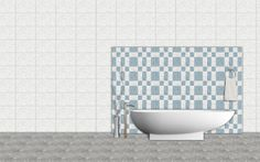 Chips Mosaic #Bathroom Tiles - http://orientbell.com/bathroom-tiles.php