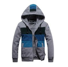 Promithi Fashion Mens Slim Fit Sexy Top Designed Hoodies Jackets Coats (Large/US Small, grey) Promithi
