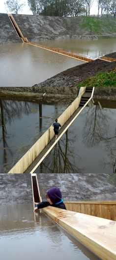 """Fort de Roovere """"Moses Bridge"""" in the Netherlands #MostBeautifulArchitecture #Netherlands"""