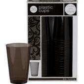 Black Premium Plastic Tumblers 36ct - Party City