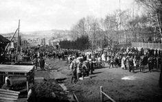 Поселок Юго-Камский в нач. ХХ в. Первомайская демонстрация
