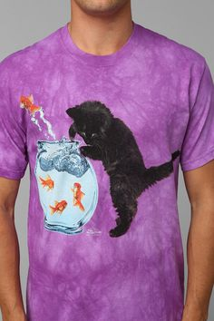 Cat And Fishbowl Tee #urbanoutfitters