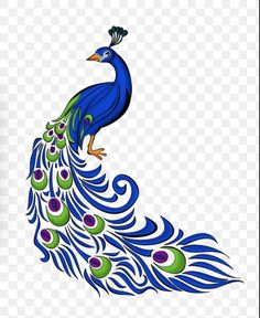 Zeichnung Peafowl Clip Art Bild Vektorgrafiken – Pfau - Ente And Gans Peacock Wall Art, Peacock Painting, Fabric Painting, Watercolor Paintings, Pencil Painting, Peacock Drawing With Colour, Bird Line Drawing, Image Clipart, Image Vector