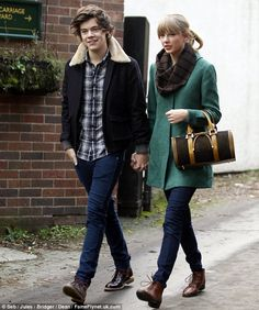 Hand-in-hand: Harry Styles and Taylor Swift were seen enjoying a date in Great Budworth last week