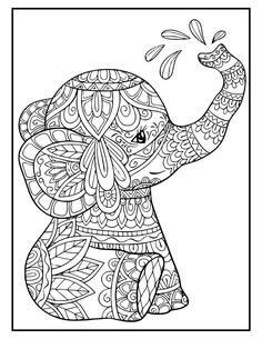 Printable Adult Coloring Pages, Cute Coloring Pages, Flower Coloring Pages, Mandala Coloring Pages, Animal Coloring Pages, Coloring Books, Coloring Pages For Adults, Coloring Pages To Print, Stitch Coloring Pages