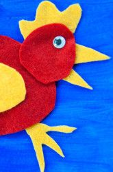 Kindergarten Fabric Projects Activities: Little Red Felt Hen Craft