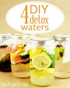 Whether you're trying to lose weight or you simply want to look and feel healthier, one of the best ways to rid your body of harmful toxins is to drink water.  These 4 detox water recipes will make your tastebuds (and the rest of your body) happy. I'm excited to try the berries, lime, and mint!