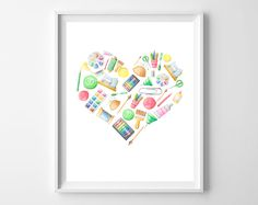 These watercolor art supply hearts have MY heart. As a crafter, I love, love, love good arts and craft supplies, and these watercolored wares make me want to hole up in my craft space and possibly …