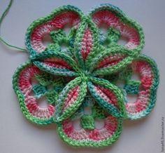 Volume crochet flower Tutorial ✿⊱╮Teresa Restegui http://www.pinterest.com/teretegui/✿⊱╮