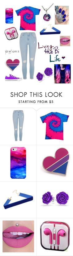 """💖💜💙"" by bethie3313 ❤ liked on Polyvore featuring Humör, River Island, Casetify, Bling Jewelry, OPI and bipride"