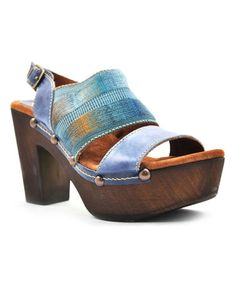 Another great find on #zulily! Blue Upbeat Leather Sandal #zulilyfinds