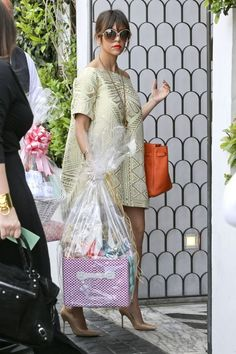 c87c442d3867 Kourtney Kardashian wearing Cecconis Amber Sakai spring 2013 dress