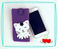 Funda para celular Violet Cat  by Cherry Skull