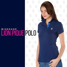 79f32027fcbf1 Women Lion Pique Polo We have picked for you the best Giordano women s lion  polo.