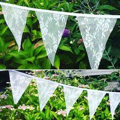 Romantisch vlaggenlijntje! Voor tuinfeest, bbq, of ander feestje!