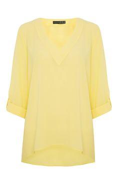 Primark - Top Amarelo com Decote em V
