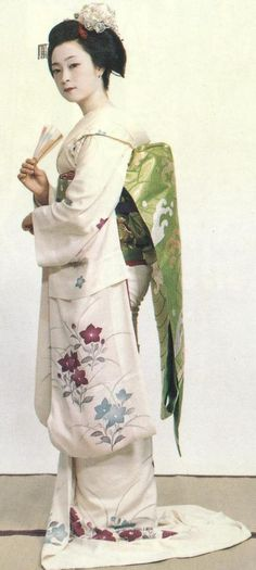 Famous Kyoto Gion Kobu Geiko Iwasaki Mineko, circa 1960s when she was still a maiko.