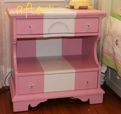 Before and After: A Little Girl's Nightstand — Houseography