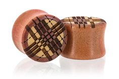 Plaid Fall Wood Plugs Gauges from Omerica Organic. Use Rep Code SWEETLE at checkout for 20% off your first purchase!