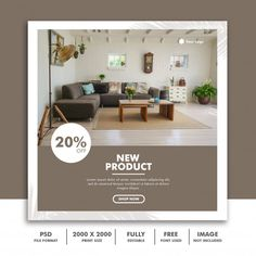 Furniture instgram post  banner template | Premium Psd #Freepik #psd #banner #sale #template #social-media Social Media Template, Social Media Design, Banner Design, Flyer Design, Origami Templates, Box Templates, Inmobiliaria Ideas, Graphic Design Brochure, Instagram Post Template