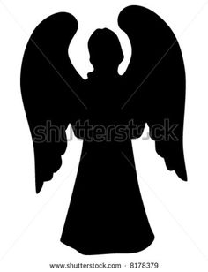 Silhouette of an angel - stock vector