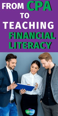Learn how one CPA went from public accounting to starting a business and teaching financial literacy to millennials and college students. #CentSai #financialplanningforbeginners #financialplanning #entrepreneurmotivation #FinancialLiteracy #financialfreedom Financial Literacy, Financial Planning, Entrepreneur Motivation, Earn More Money, Career Change, Finance Tips, Starting A Business, Money Management, Money Saving Tips