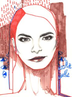 Cara Delevingne illustration/sketch