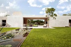 Built by Reyes Ríos + Larraín Arquitectos in Acanceh, Mexico with date 2010. Images by Pim Schalkwijk. A contemporary guest house is inserted in an old patio for tending agave fibers within a nineteenth century Heneque...