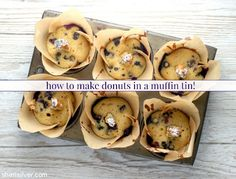 Did you know that you can make donuts in a muffin tin? Muffin Tins, Kitchen Hacks, Cool Kitchens, Donuts, Favors, Breakfast, Easy, Food, Muffin Pans