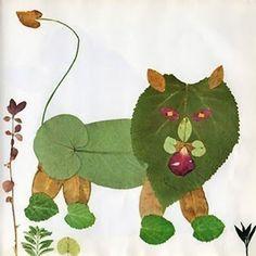 Come creare un leone con le foglie autunnali