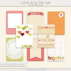 Love is in the Air journaling cards by Karen Funk at Pixels and Company