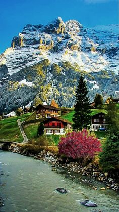 Swiss Village - Jungfrau region, Berner Oberland www. Places To Travel, Places To See, Travel Destinations, Wonderful Places, Beautiful Places, Nature Pictures, Places Around The World, Amazing Nature, Beautiful Landscapes