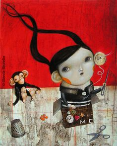 the girl with the exaggerated ear. 2010