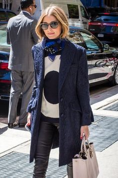 Socialite Olivia Palermo spotted outside the Mark Hotel in New York City, New York on May 5, 2014.