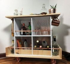 Home and Garden DIY Ideas, Photos and Answers Ikea Cubes, Old Bookshelves, Building A Kitchen, Furniture Makeover, Furniture Ideas, Cube Storage, Industrial Furniture, Decoration, Household Items