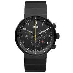Braun Watches Black Stainless Steel Mens Watch BN0095BKBKBTG