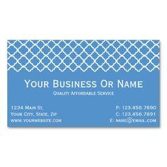 Regatta Blue & White Quatrefoil. Name Or Business