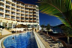 Port Vila Grand Hotel and Casino in Vanuatu, Pacific Ocean and Australia Australia Hotels, Vanuatu, Grand Hotel, Pacific Ocean, Travel Pictures, Travel Pics, Outdoor Pool, Hotel Offers, Places To See